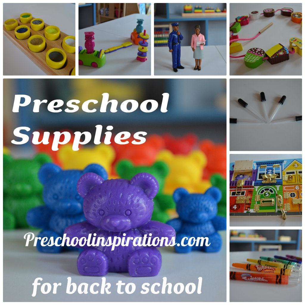 Preschool Supplies by Preschool Inspirations