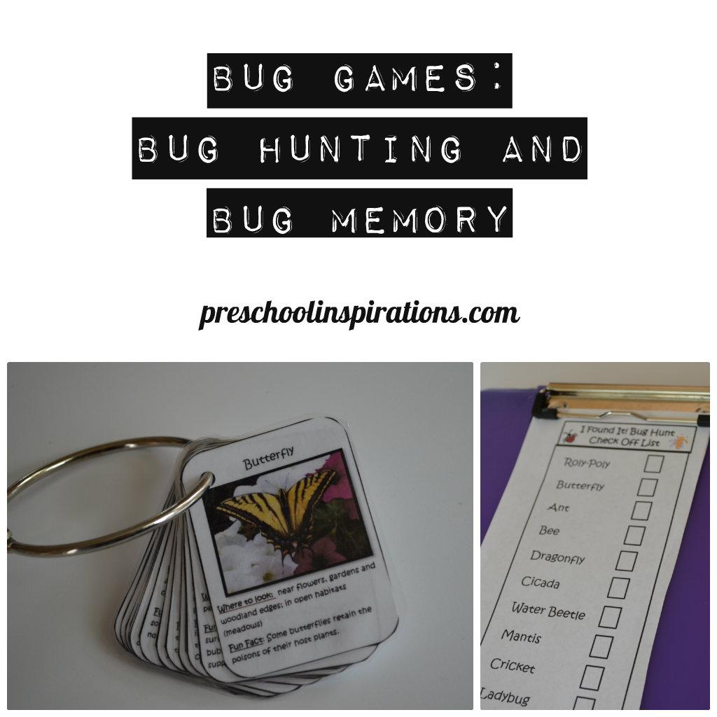 Bug Games  Preschool Inspirations
