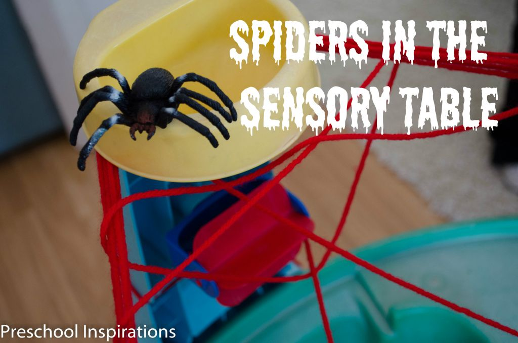Spiders in the Sensory Table by Preschool Inspirations