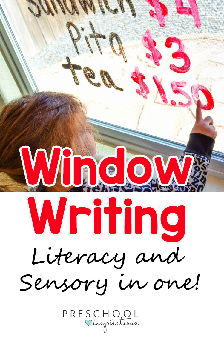 Help children learn literacy skills by window writing! That's right, writing on the windows is a fun and exciting way to work on the alphabet.
