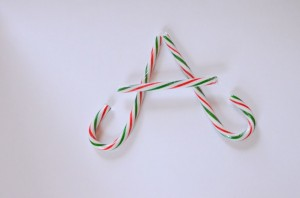 Candy Cane Literacy Game by Preschool Inspirations A