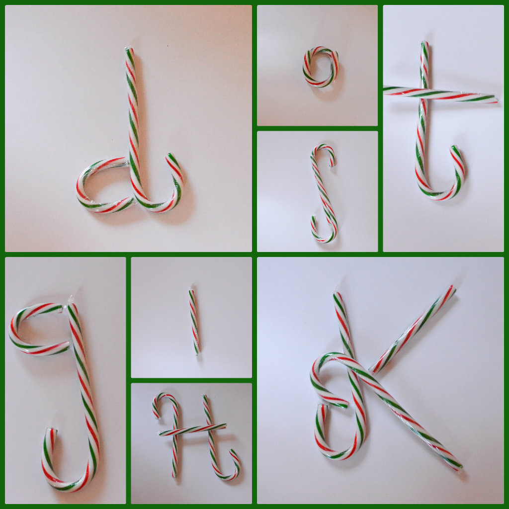 Candy Cane Literacy Gamew by Preschool Inspirations