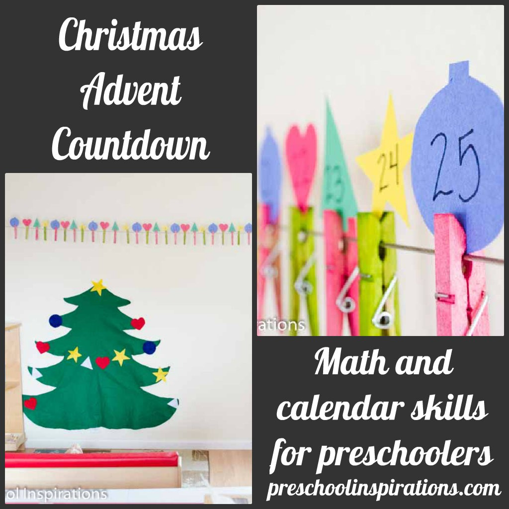 Christmas Advent Countdown by Preschool Inspirations
