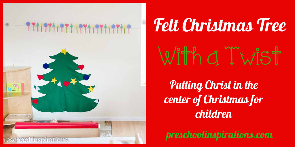 Felt Christmas Tree With a Twist by Preschool Inspirations
