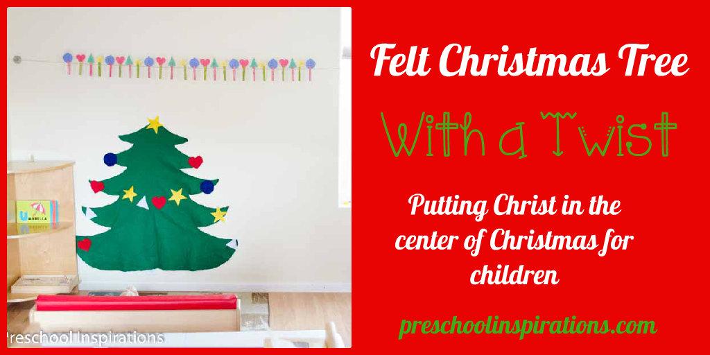Felt Christmas Tree With a Twist by Preschool Inspirations