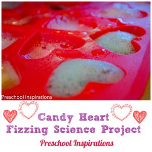 Candy Heart Fizzing Science Project