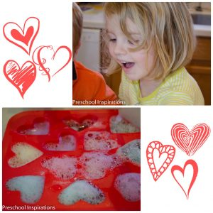 Candy Heart Fizzing Science Project by Preschool Inspirations