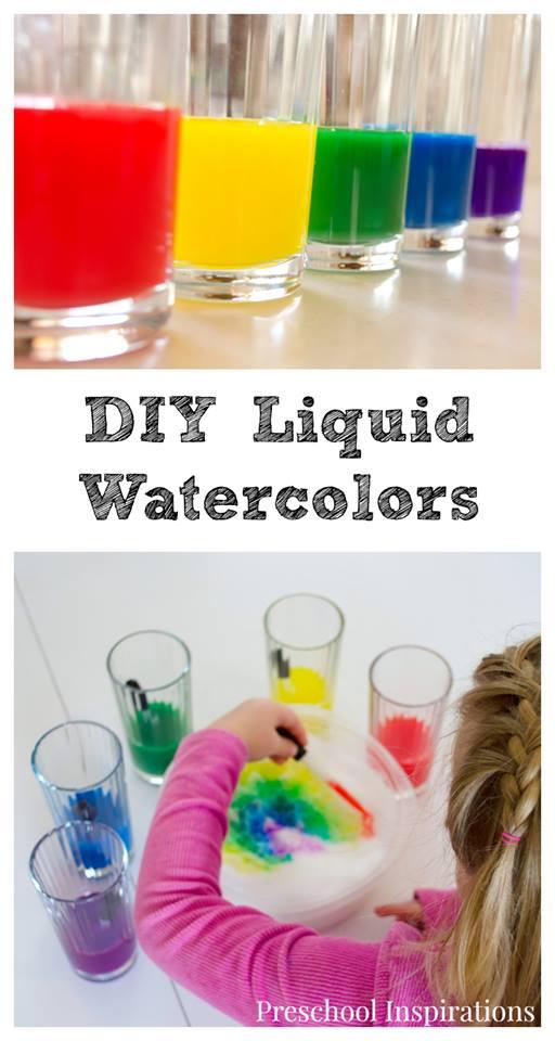 DIY Liquid Watercolors by Preschool Inspirations