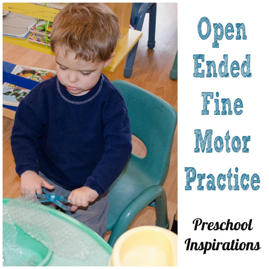 Help children practice fine motor skills with a scissor practice sensory table.