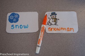 Winter Writing Center Name Tags by Preschool Inspirations-3