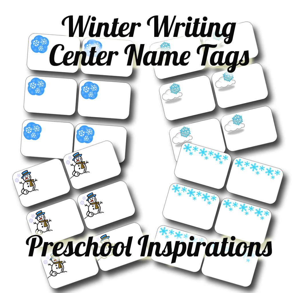 photograph regarding Printable Name Tags for Preschool known as Wintertime Crafting Middle Track record Tags - Preschool Inspirations