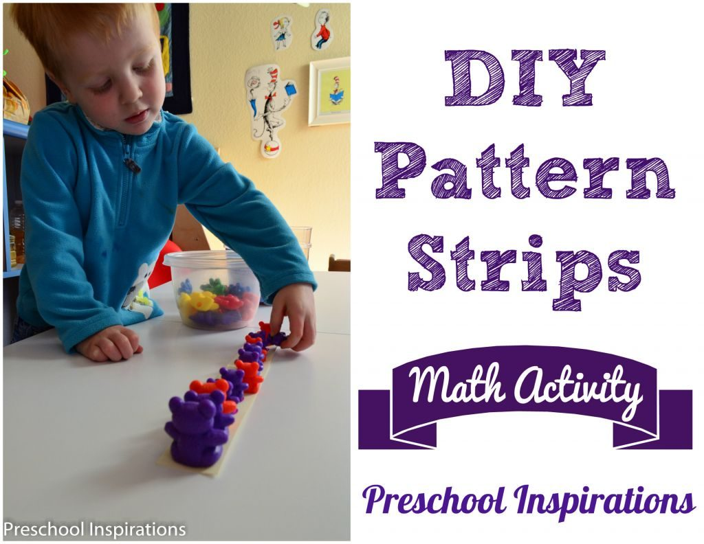 DIY Pattern Strips by Preschool Inspirations