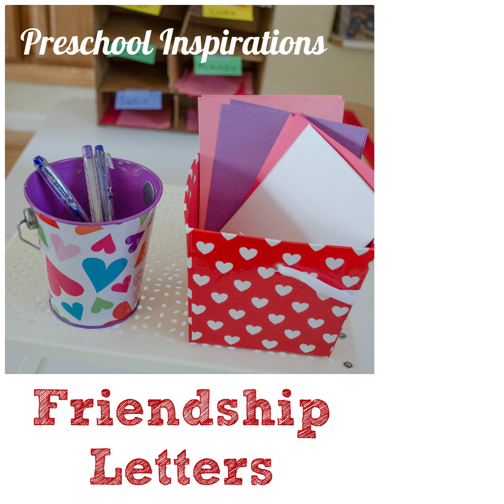 Friendship Letters by Preschool Inspirations -- A stress-free writing center for preschoolers #literacy #kidscraft #preschool #earlyreading #classroom