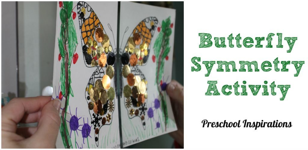 Butterfly Symmetry Activity by Preschool Inspirations