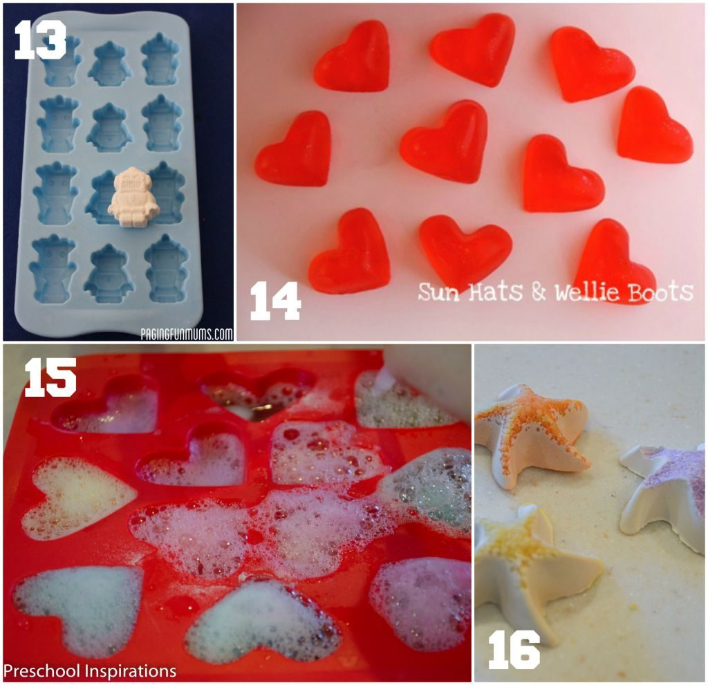 Ice Cube Mold Activities by Preschool Inspirations