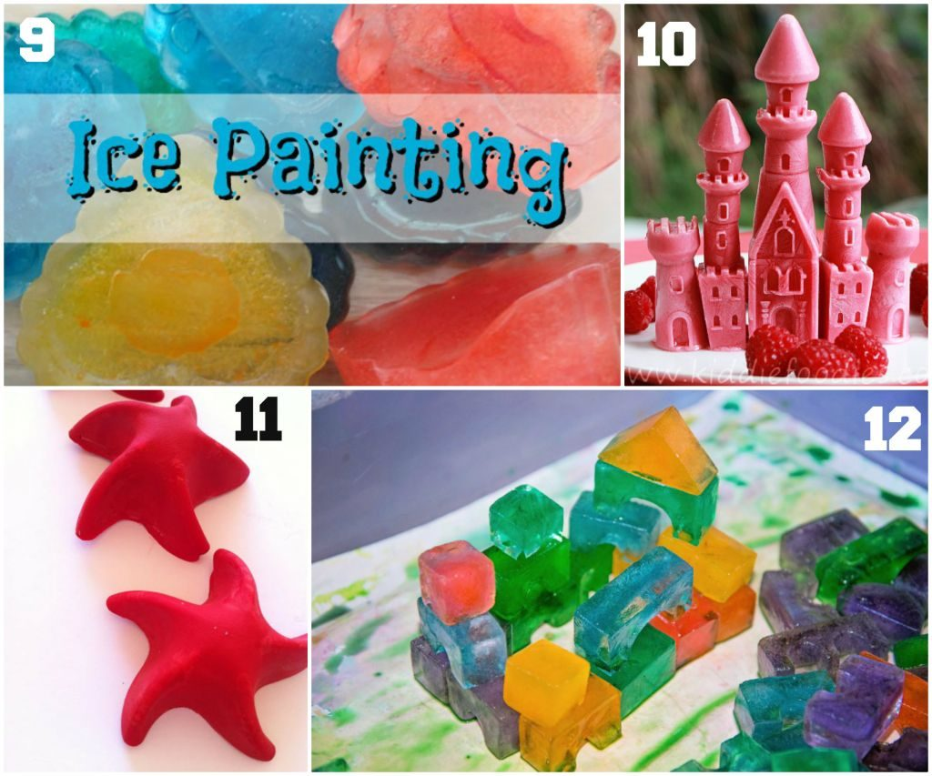 Ice cube tray ideas compiled by Preschool Inspirations