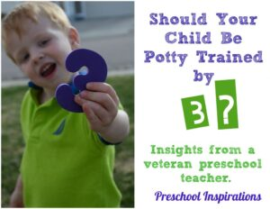 Should Your Child Be Potty Trained by 3 - by Preschool Inspirations