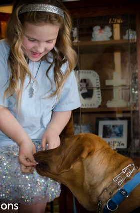 A Girl and Her Lifesaving Dog