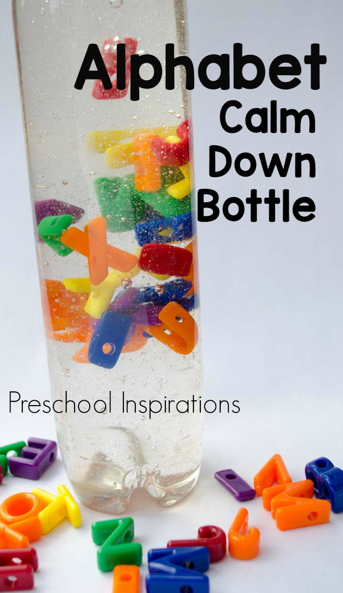 Alphabet Calm Down Bottle by Preschool Inspirations