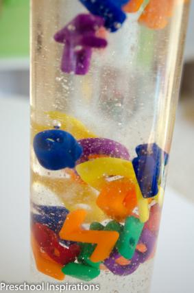 Close up of an alphabet bottle