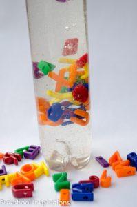 Alphabet Discovery Bottle by Preschool Inspirations-5