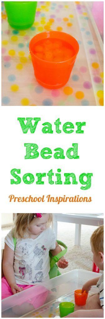 Water bead sorting ~ Preschool Inspirations