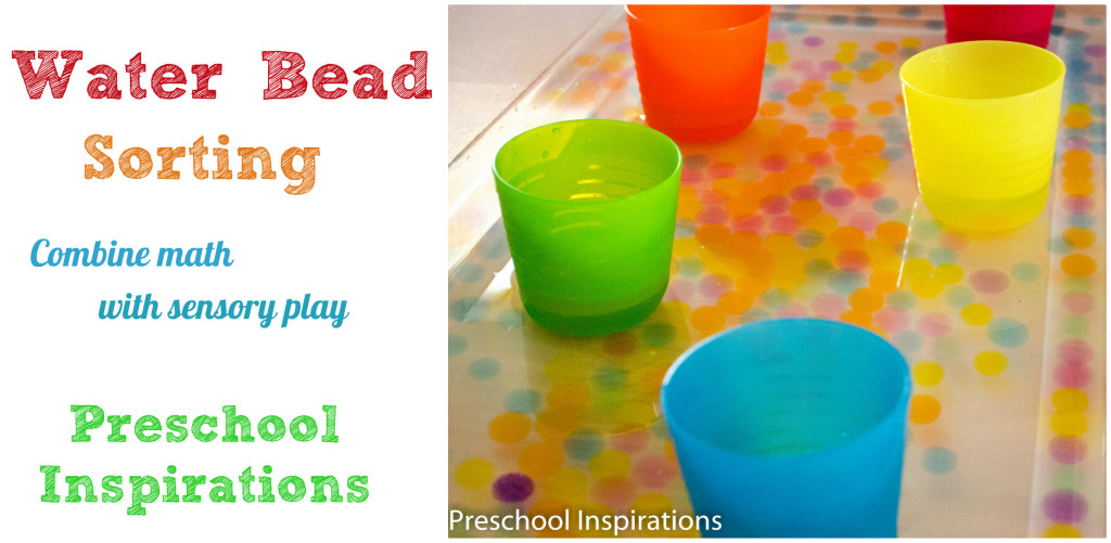 Water bead sorting by Preschool Inspirations