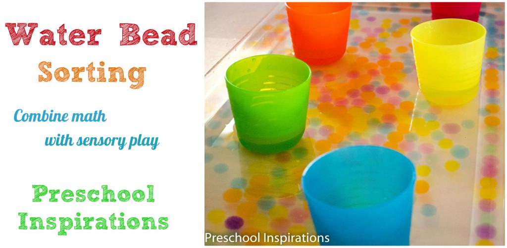Water bead sorting by Preschool Inspirations