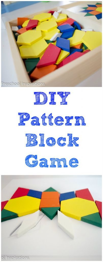 DIY Pattern Block Game by Preschool Inspirations