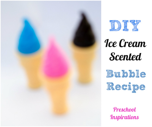 Make your own ice cream scented bubbles recipe ~ Preschool Inspirations