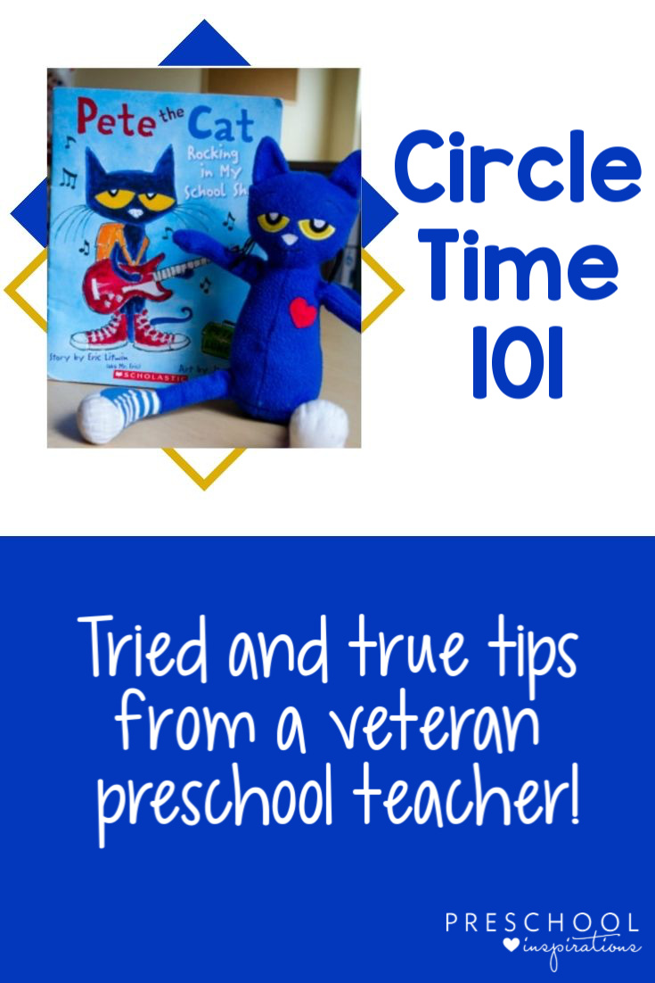 The best circle time songs, activities, and tips from a veteran preschool teacher! Find behavior management and other circle time ideas, and make your preschool circle time a success! #preschool #prek #circletime #circletimesongs