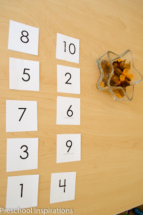 Fall Math Counting by Preschool Inspirations
