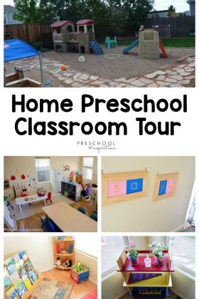 Get ideas for a preschool classroom, family child care program, or home preschool program by taking a tour of my preschool classroom. #preschool #preschoolideas #preschoolcenters #homepreschool #preschoolsetup #preschoolinspirations #earlychildhoodeducation #familychildcare #familydaycare