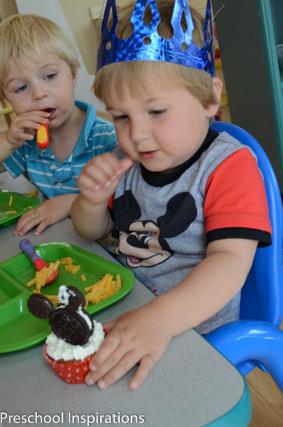 Celebrating birthdays in the preschool classroom.