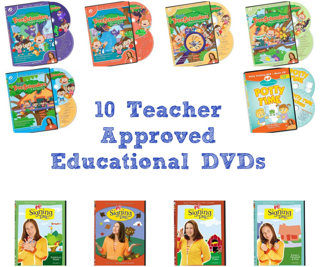 10 Teacher Approved Educational DVDs by Preschool Inspirations