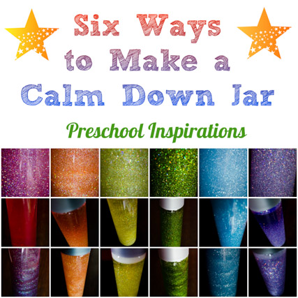 6 ways to make a calm down jar preschool inspirations