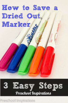 How to Save a Dried Out Marker by Preschool Inspirations-3 Easy Steps