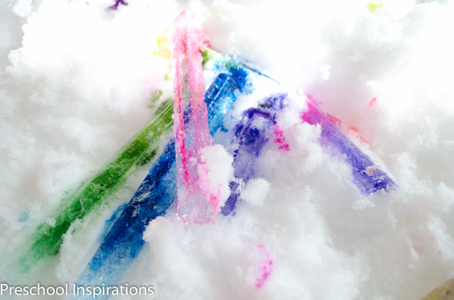 Colored Ice Pictures by Preschool Inspirations