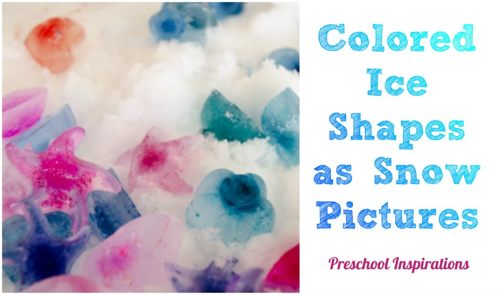 Colored Ice Shapes as Snow Pictures