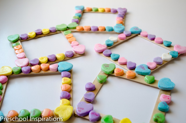 Conversation Heart Photo Frame Preschool Inspirations