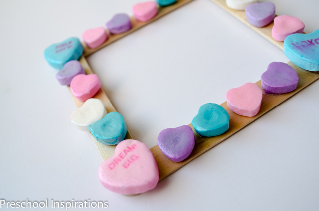 Conversation Heart Picture Frames by Preschool Inspirations-4