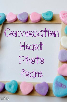 Conversation Heart Photo Frame