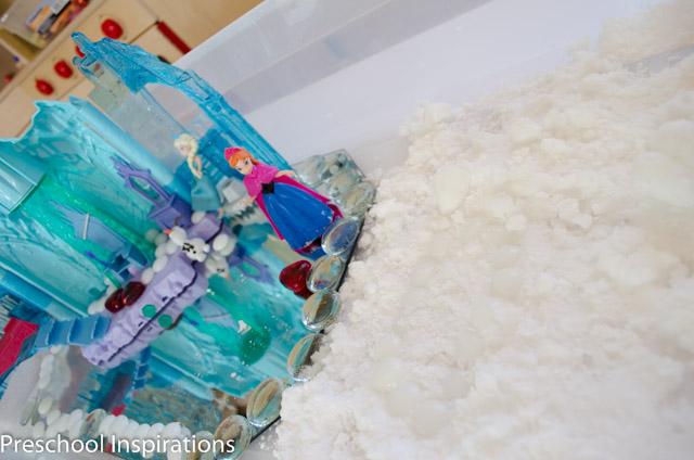 Frozen Small World in Snow Dough-5