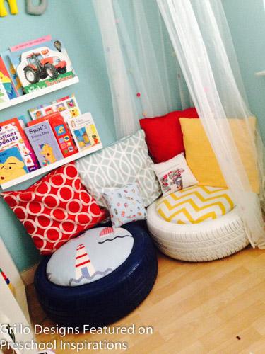 Cozy Corner With Tire Seating Preschool Inspirations