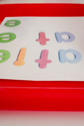 Make a name puzzle to teach name recognition.