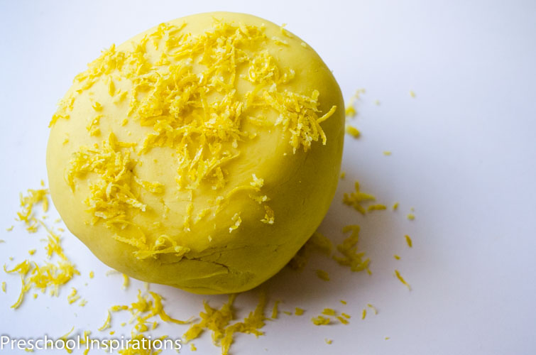 Lemonade Scented Playdough by Preschool Inspirations-2