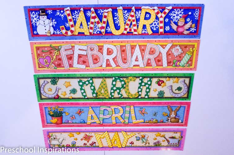 Calendar Games For Kindergarten : Making calendar time meaningful preschool inspirations