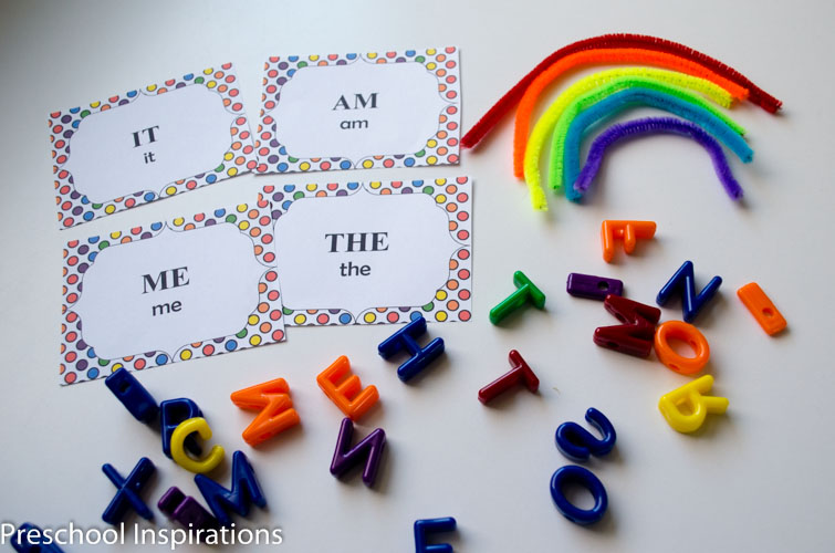 Rainbow Sight Word Lacing Busy Bag  by Preschool Inspirations-5