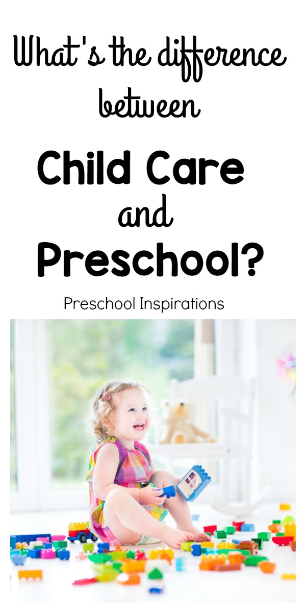 What's really the difference between child care and preschool? Read about it from a teacher who was worked in both!