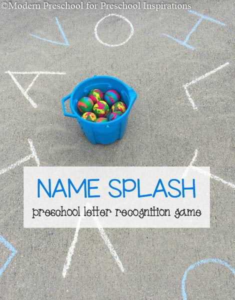 Name Splash - Preschool Letter Recognition Game #preschool #prek #literacy #namepractice #nameactivities #namespelling #alphabet #letterrecognition #handsonactivities